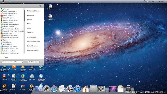 mac os skin pack for windows 7 free download